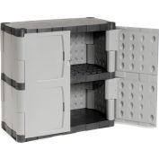 "Rubbermaid 7085 Plastic Storage Cabinet Base Double Door 36""W x 18""D x 37""H"