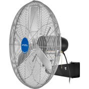 "Global Industrial™ 24"" Deluxe Industrial Wall Mounted Fan, Oscillating, 8650 CFM, 1/2 HP"