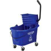 Global Industrial™ Mop Bucket And Wringer Combo 38 Qt., Side Press, Blue