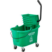 Global Industrial™ Mop Bucket And Wringer Combo 38 Qt., Side Press, Green