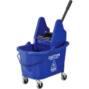 Global Industrial™ Mop Bucket And Wringer Combo, Down Press, Blue