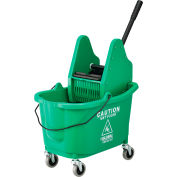 Global Industrial™ Mop Bucket And Wringer Combo, Down Press, Green