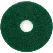 "Global Industrial™ 13"" Green Scrubbing Pad - 5 Per Case"