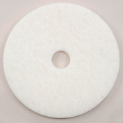 "Global Industrial™ 22"" White Polishing Pad - 5 Per Case"