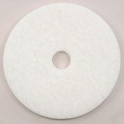 "Global Industrial™ 20"" Polishing Pad, White, 5 Per Case"