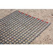 """Durable Corporation Steel Mat 3/8"""" Thick 6' x 6' Gray"""