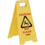 Global Industrial™ Floor Sign 2 Sided Multi-Lingual - Caution
