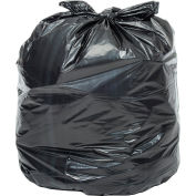 Global Industrial™ Light Duty Black Trash Bags - 20-30 Gal, 0.39 Mil, 500 Bags/Case