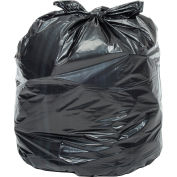 Global Industrial™ Heavy Duty Black Trash Bags - 55 to 60 Gal, 1.0 Mil, 100 Bags/Case