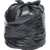 Global Industrial™ 2X Heavy Duty Black Trash Bags - 55 to 60 Gal, 1.7 Mil, 100 Bags/Case