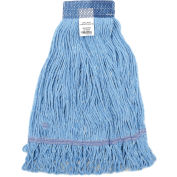 Global Industrial™ Small Blue Looped Mop Head, Wide Band