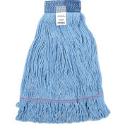 Global Industrial™ Medium Blue Looped Mop Head, Wide Band