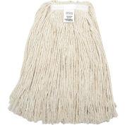 Global Industrial™ 24 oz. Cotton Cut-End Mop Head, 4Ply, Narrow Band