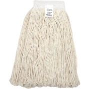 Global Industrial™ 24 oz. Cotton Cut-End Mop Head, 4Ply, Wide Band