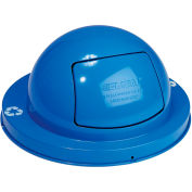Global Industrial™ Steel Dome Lid For 36 Gallon Trash Can, Blue