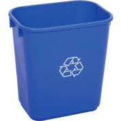 Global Industrial Deskside Recycling Wastebasket, 13-5/8 Quart, Blue