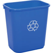 Global Industrial Deskside Recycling Wastebasket, 28-1/8 Quart, Blue