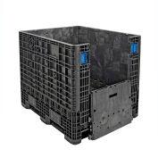 ORBIS BulkPak GP4048-39 Folding Bulk Shipping Container 48 x 40 x 39 2000 lb Capacity Black