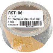 """INCOM® Safety Tape Reflective Striped Yellow/Black, 2""""W x 30'L, 1 Roll"""