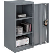"Global Industrial™ Wall Storage Cabinet Assembled 13-3/4""W x 12-3/4""D x 30""H Gray"