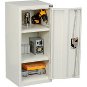 """Global Industrial™ Wall Storage Cabinet Assembled 13-3/4""""W x 12-3/4""""D x 30""""H White"""