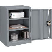 "Global Industrial™ Wall Storage Cabinet Assembled 18""W x 12""D x 26""H Gray"
