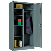 "Global Industrial™ Combination Cabinet Easy Assembly 36""W x 18""D x 72""H Gray"