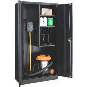 Global Industrial™ Janitorial Cabinet Easy Assembly 36x18x72 Black
