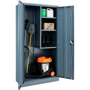 Global Industrial™ Janitorial Cabinet Easy Assembly 36x18x72 Gray