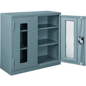 "Global Industrial™ Clear View Wall Storage Cabinet Assembled 30""W x 12""D x 30""H Gray"