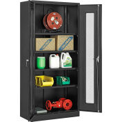"""Global Industrial™ Storage Cabinet With Expanded Metal Door Assembled 36""""W x 18""""D x 78""""H Black"""