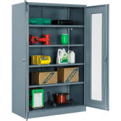 "Global Industrial™ Storage Cabinet With Expanded Metal Door Unassembled 48""W x 24""D x 78""H Gry"
