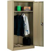 Global Industrial™ Wardrobe Cabinet Assembled 36x18x72 Tan
