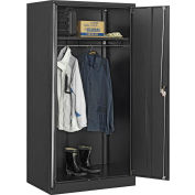 Global Industrial™ Wardrobe Cabinet Easy Assembly 36x24x72 Black
