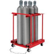 Global Industrial™ Forkliftable Cylinder Storage Caddy, Mobile For 6 Cylinders