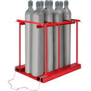 Global Industrial™ Forkliftable Cylinder storage Caddy, Stationary For 8 Cylinders