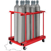 Global Industrial™ Forkliftable Cylinder Storage Caddy, Mobile For 8 Cylinders