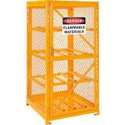 Global Industrial™ Cylinder Storage Cabinet SGL Door Horizontal, 8 Cylinder Capacity