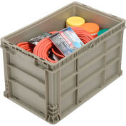 Straight Wall Container Solid - Stackable NRSO2415-14 Gray - 24 x 15 x 14