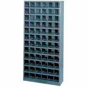 Steel Storage Bin Cabinet 36x12x39, 16 Compartments