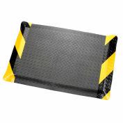 "Apache Mills Diamond Deluxe Soft Foot™ Mat 9/16"" Thick 3' x 60' Black/Chevron Border"