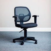 Interion® Mesh Fabric Black Office Chair With Arms, Unassembled