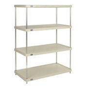 "Plastic Shelving Unit 48""Wx24""Dx74""H Solid Shelf"