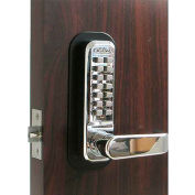 Lockey Digital Door Lock 2835 Lever Handle, Bright Chrome
