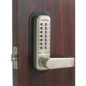 Lockey Digital Door Lock 2835 Lever Handle, Satin Nickel