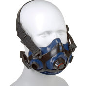 Honeywell RU8800 Half Mask, Triple Flange Silicone Half Mask, Size Medium/Large