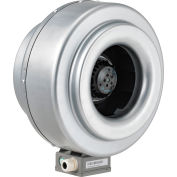 """Global Industrial™ 10"""" Inline Duct Fan - Galvanized Steel - Energy Star Rated - 630 CFM"""