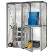 Bulk Storage Locker Back Panel 3'W For Single Or Double Tier