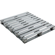 "Global Industrial™ Galvanized Steel Pallet - 48""L x 40""W x 4-3/4""H"