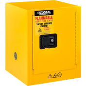 "Global Industrial™ Flammable Cabinet, Manual Close Single Door, 4 Gallon, 17""Wx18""Dx22""H"